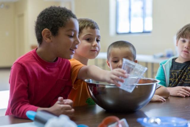 Cooking at Good Shepherd Preschool