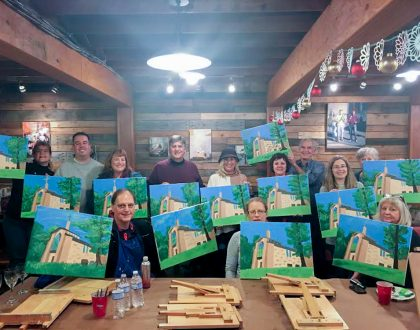 View Photos from the Painting Party at Artissima Studio