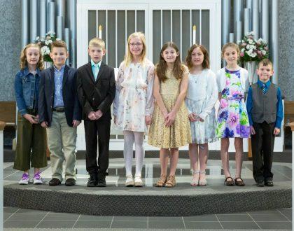 Ten Children Receive First Holy Communion - April 7, 2019