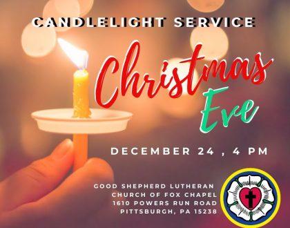 Christmas Eve - Dec. 24 - Candlelight Service - 4 p.m.