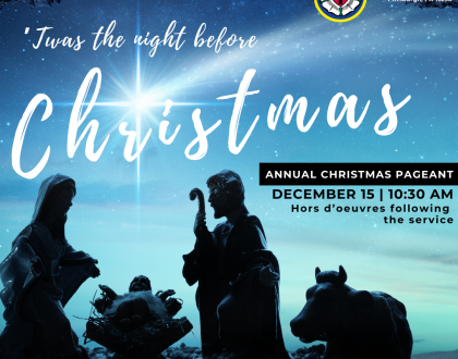 'Twas the Night Before Christmas - Pageant on Dec. 15 - 10:30 AM