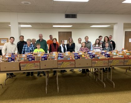 Give Thanks. Serve Others. Pre-Packing Thanksgiving Boxes for Local Families