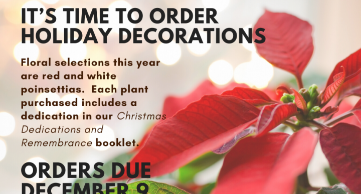 Christmas Sanctuary Decorations - Due Dec. 9