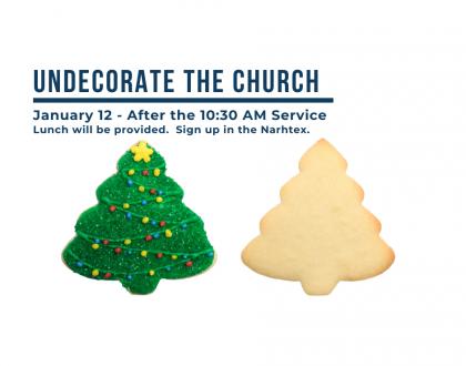 Un-Decorate the Church