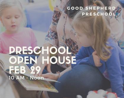 Good Shepherd Preschool Hosts First-Ever Open House - Feb 29