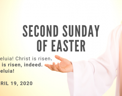 Second Sunday of Easter At-Home Service for April 19