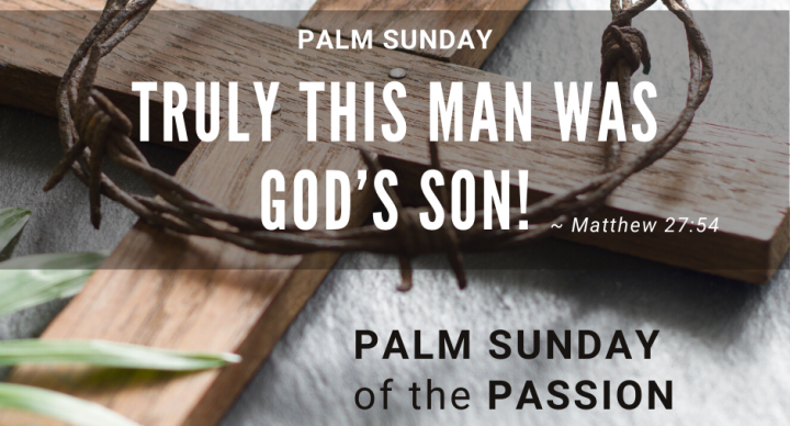 Palm Sunday of the Passion At-Home Service for April 5