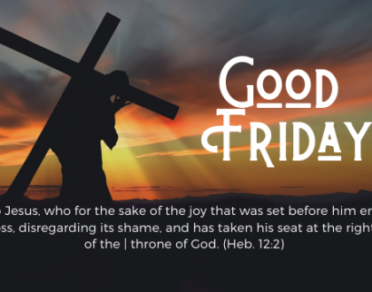 Good Friday At-Home Service for April 10