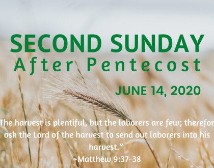 Second Sunday After Pentecost At-Home Service for June 14