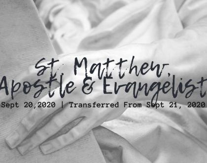 St. Matthew, Apostle & Evangelist Sunday At-Home Service for Sept 20