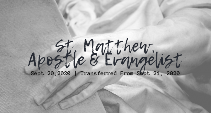 St. Matthew, Apostle & Evangelist Sunday At-Home Service for Sept 20