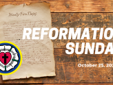 Reformation Sunday At-Home Service for Oct 25