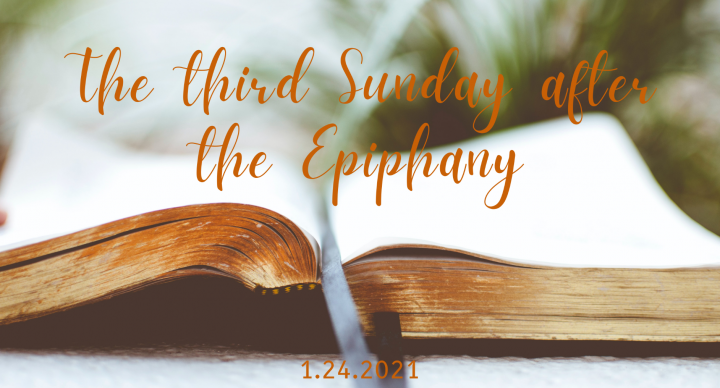Third Sunday After the Epiphany At-Home Service for Jan 24