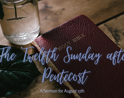 Mary Mother of Our Lord, The Twelfth Sunday after Pentecost, At-Home Service for August 15th